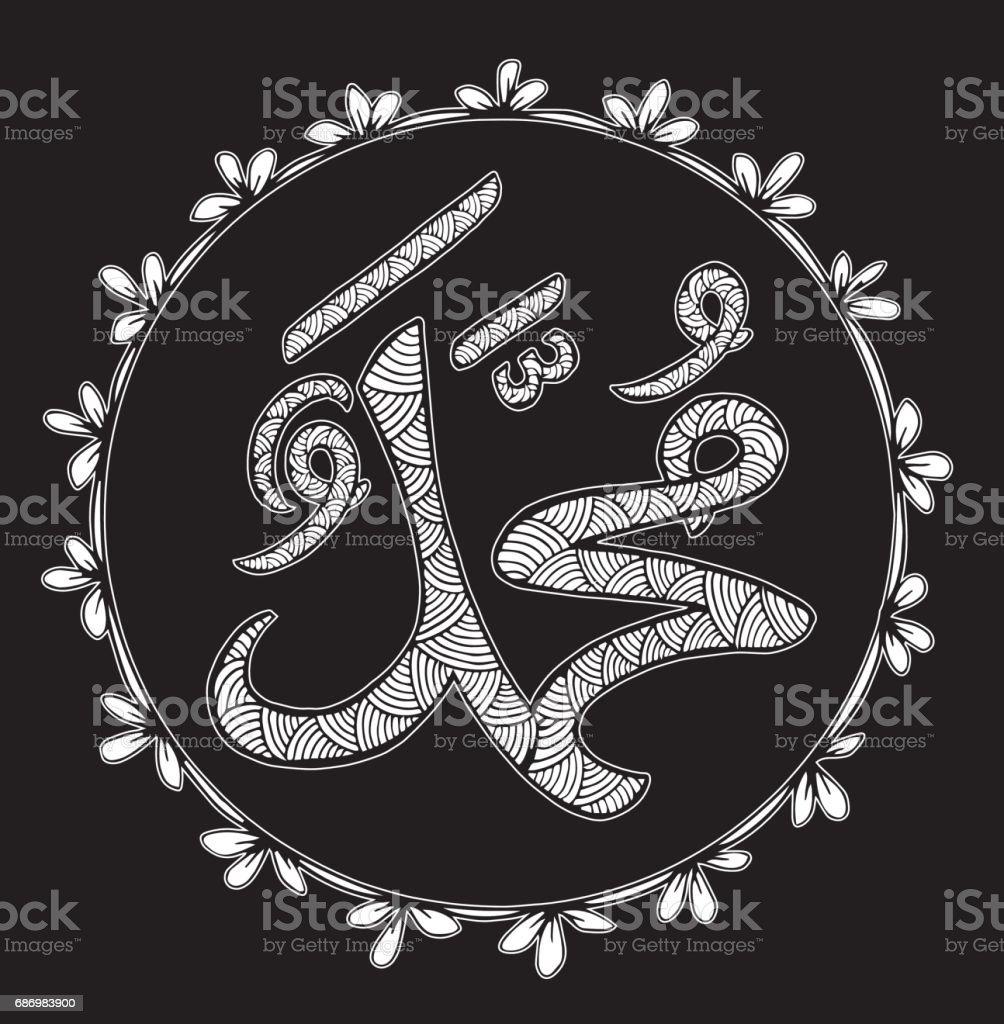 Peygamber Muhammed Baris Adini Onun Uzerine Boyali Goruntu