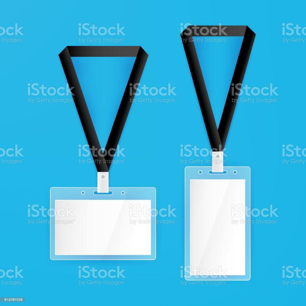 name tags blank mockup vector id613767226