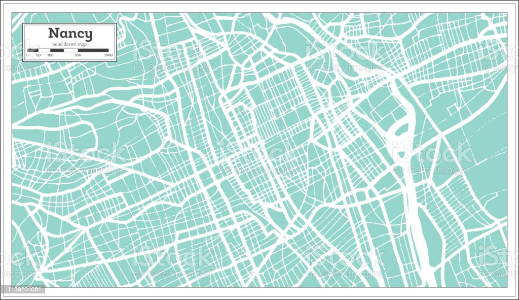 Map Of France Nancy.Nancy France City Map In Retro Style Outline Map Stock Illustration