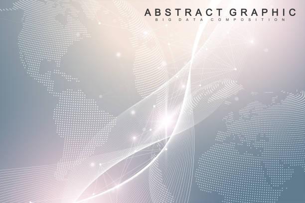 Nano-Technologien abstrakten Hintergrund. Cyber-Technologie-Konzept. Künstliche Intelligenz, virtuelle Realität, Bionik, Robotik, globales Netzwerk, Mikroprozessor, Nano-Roboter. Vektorillustration, Banner – Vektorgrafik