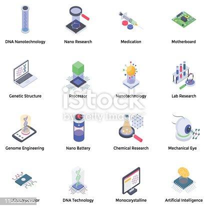 istock Nanotechnology Icons Pack 1155357265