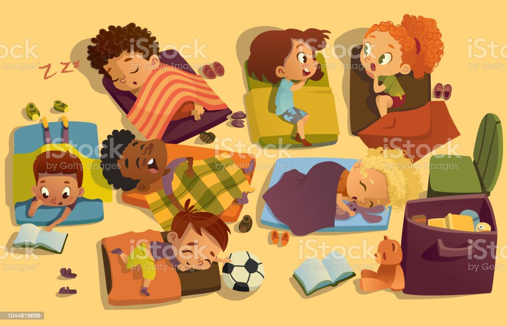 Nap Time In The Kindergarten Group Of Multiracial Girls ...Nap Time Clip Art Images