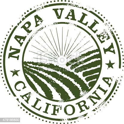 Stylized Napa Valley Stamp