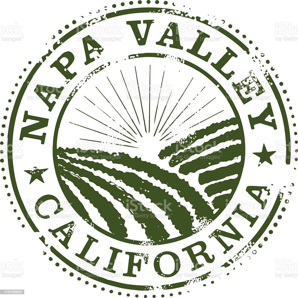 Napa Valley Stamp vector art illustration