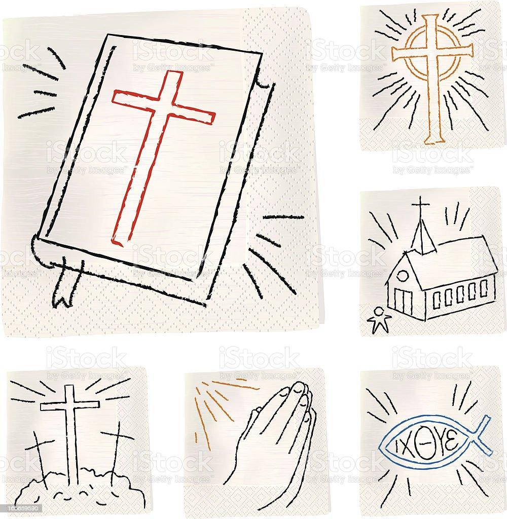 Napkin Sketch - Christian vector art illustration