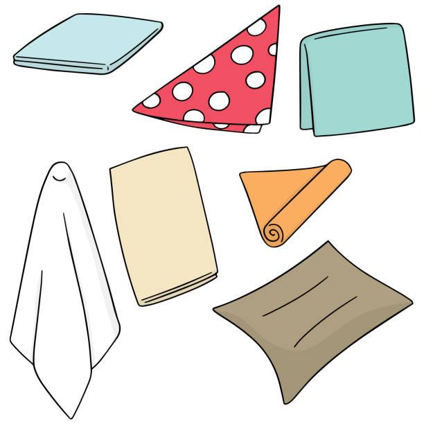 stockillustraties, clipart, cartoons en iconen met servet - servet
