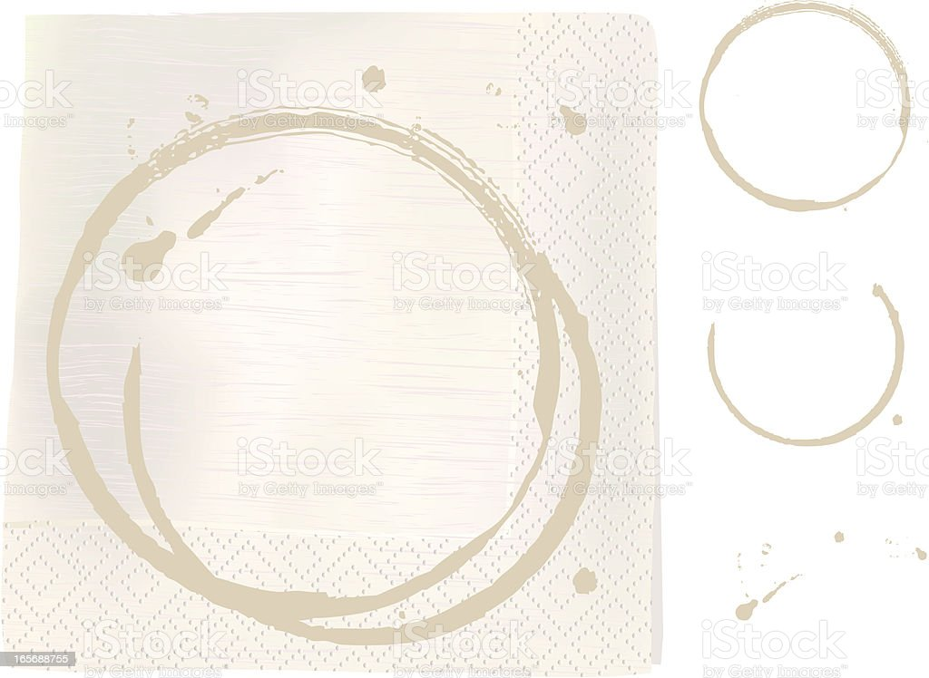 Napkin with coffee stains royalty-free napkin with coffee stains stock vector art & more images of brown