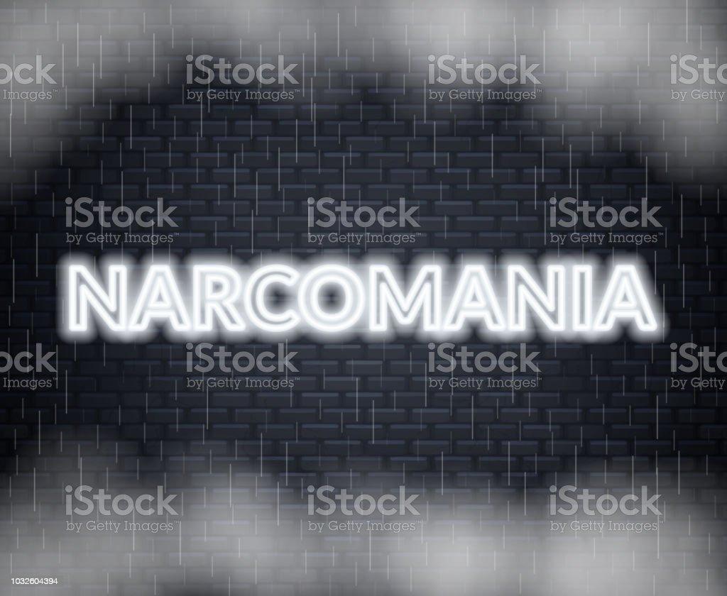 Narcomania Lettres De Néon Humeur Triste Illustration