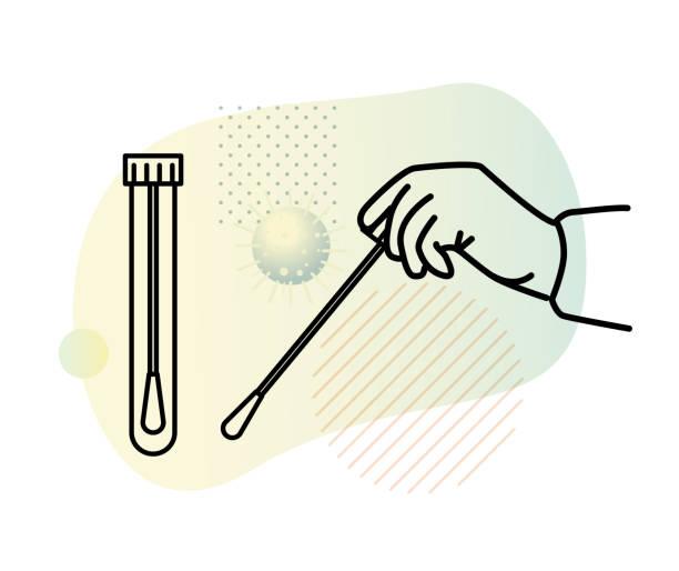Nasal Nasopharyngeal  and Buccal Swab - Buccal Smear Test Kit - Icon Nasal Nasopharyngeal and Buccal Swab - Buccal Smear Test Kit - Icon as eps 10 File. nasal swab stock illustrations