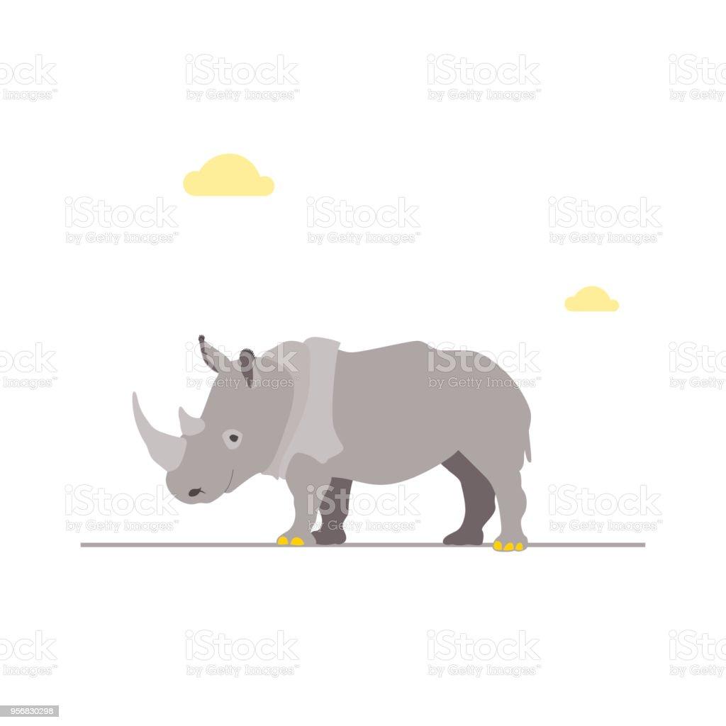 Nashorn Lizenzfreies nashorn stock vektor art und mehr bilder von afrika
