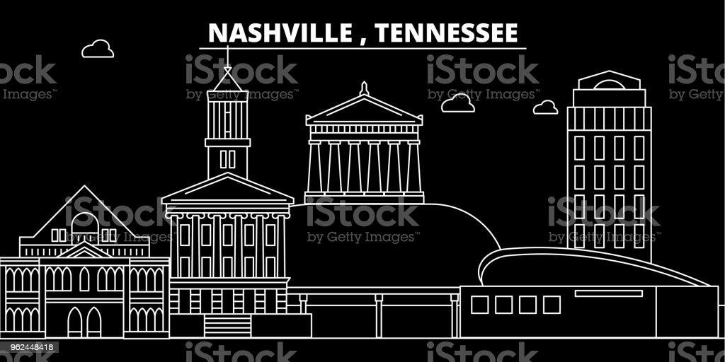 Nashville Silhouette Skyline Usa Nashville Vector City