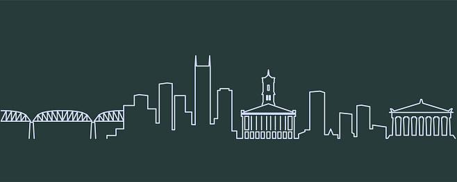 Nashville Single Line Skyline