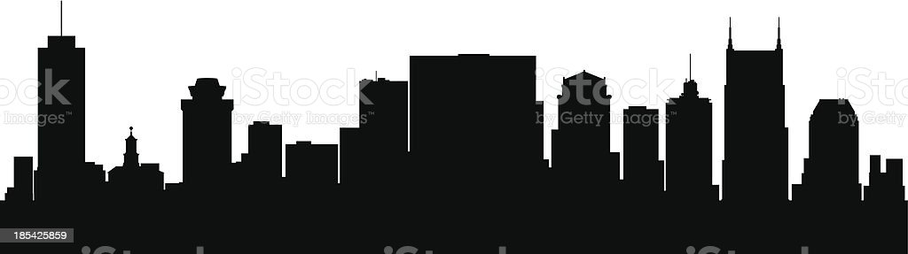Nashville Tennessee city skyline silhouette vector art illustration