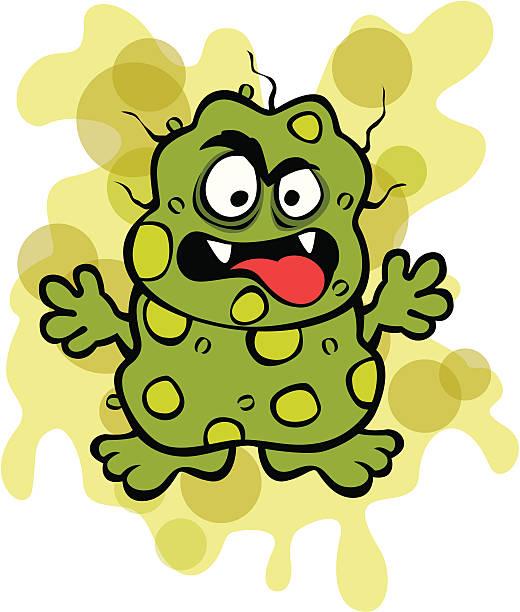 Nasty Germ Microbe vector art illustration