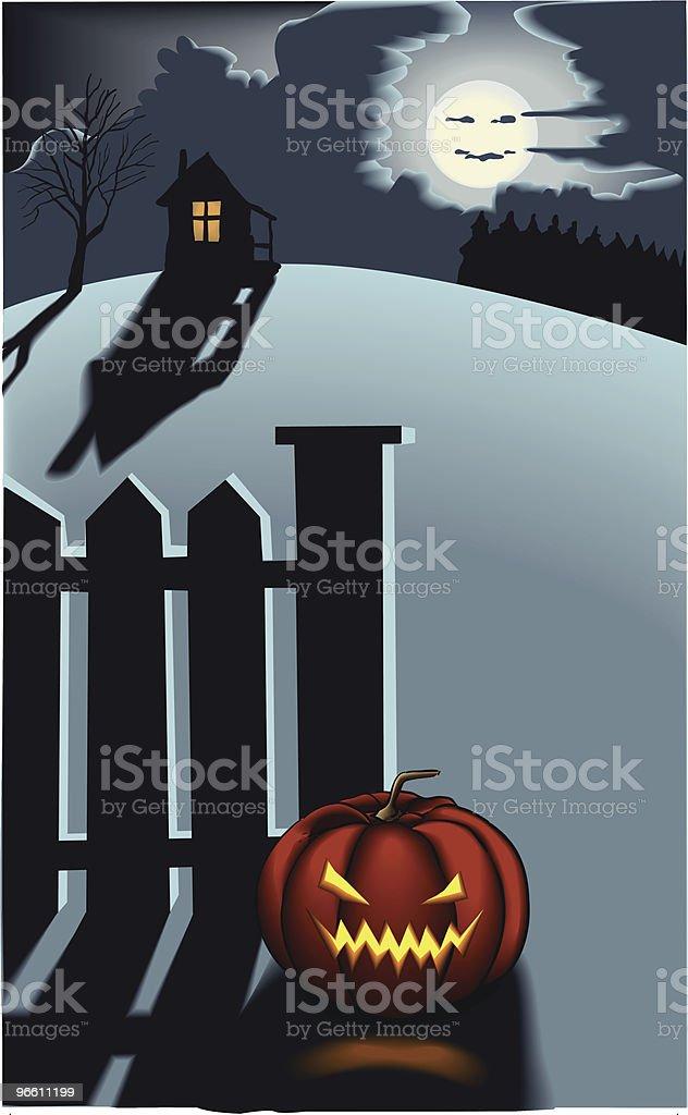 nasty halloween pumpkin - Royaltyfri Antropomorfistiskt ansikte vektorgrafik