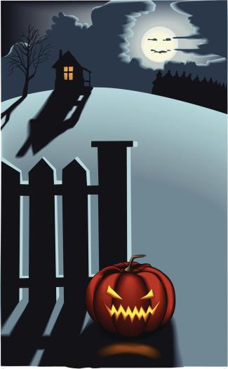 Nasty Halloween Pumpkin-vektorgrafik och fler bilder på Antropomorfistiskt ansikte
