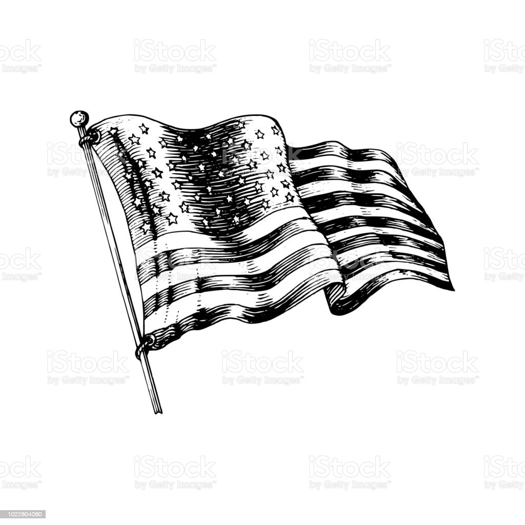 Royalty Free Black American Flag Clip Art Vector Images
