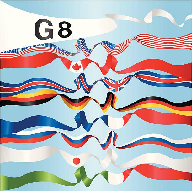 ilustraciones, imágenes clip art, dibujos animados e iconos de stock de banners nacional del g8 - bandera rusa