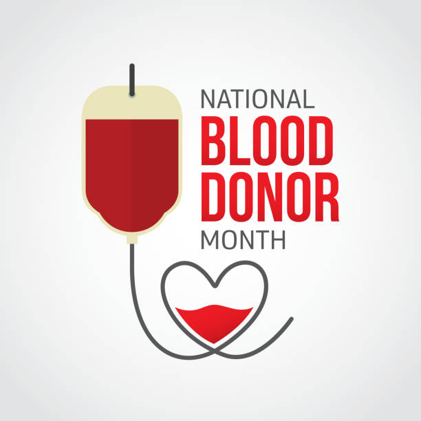 National Blood Donor Month vector art illustration