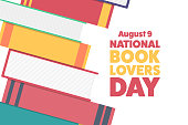istock National Book Lovers Day. August 9. Holiday concept. Template for background, banner, card, poster with text inscription. Vector EPS10 illustration. 1256516856