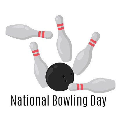 National Bowling Day, concept for banner or holiday card