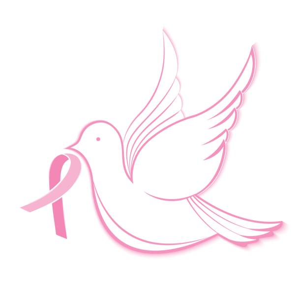 Royalty Free Breast Cancer Ribbon With Wings Clip Art Vector Images