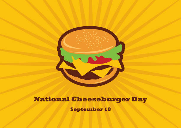 national cheeseburger day vector - cheeseburger stock illustrations