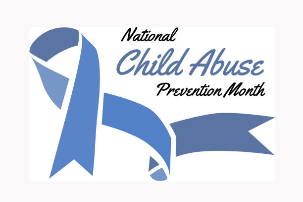 national child abuse prevention month. vector illustration - child abuse stock illustrations
