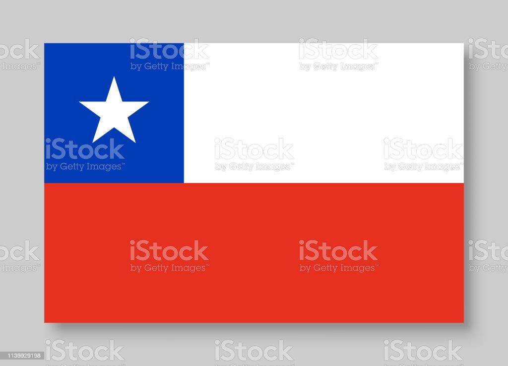 Ilustração nacional do vetor da bandeira do Chile - ilustração de arte em vetor