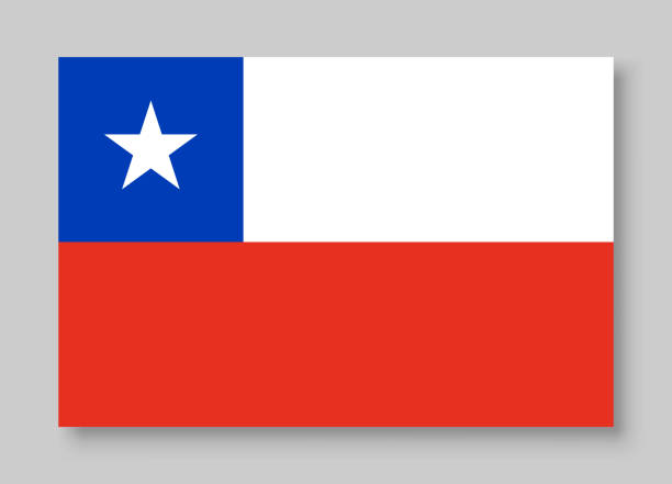 national chile flag vector illustration - chile flag stock illustrations, clip art, cartoons, & icons
