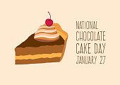 istock National Chocolate Cake Day vector 1284221145