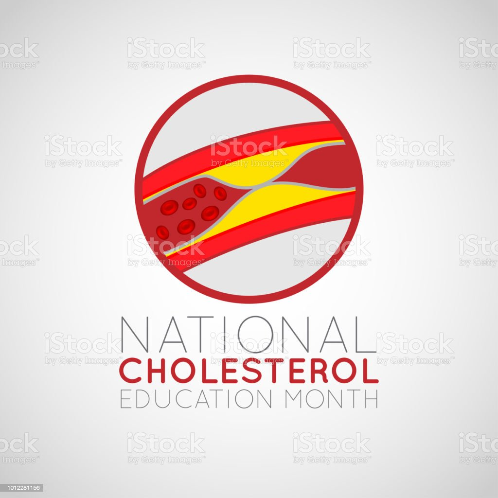 National Cholesterol Education Month vector logo icon illustration vector art illustration
