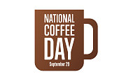 istock National Coffee Day. September 29. Holiday concept. Template for background, banner, card, poster with text inscription. Vector EPS10 illustration. 1272804672