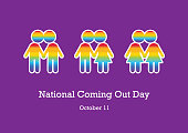 Gay and lesbian rights. Kissing figures illustration. Stylized illustration of couples in love. Important day