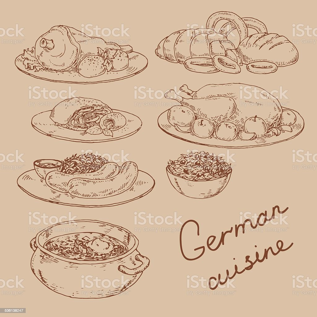 cuisine nationale d'Allemagne - Illustration vectorielle