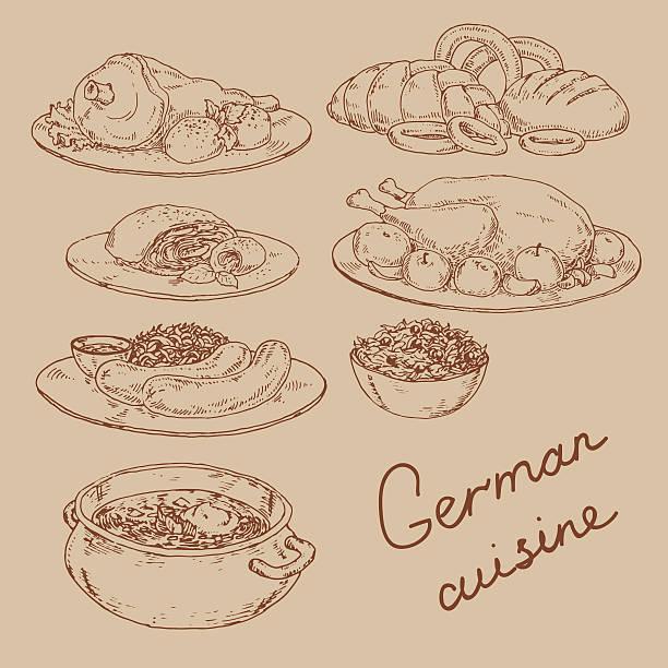 - küche von deutschland - sauerkraut stock-grafiken, -clipart, -cartoons und -symbole