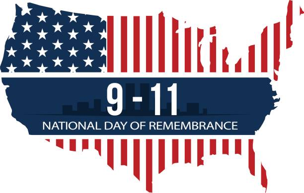 9/11 ulusal günü anma, 11 eylül 2001. vektör çizim - first responders stock illustrations