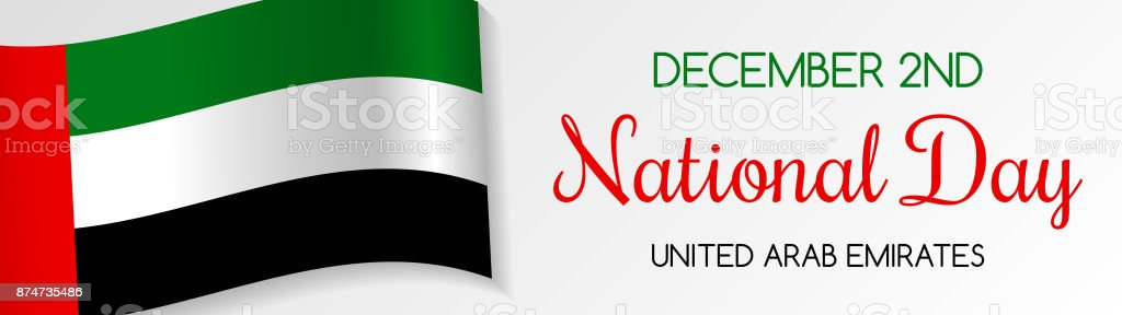 National day of uae card with greeting vector stock vector art national day of uae card with greeting vector royalty free national day m4hsunfo