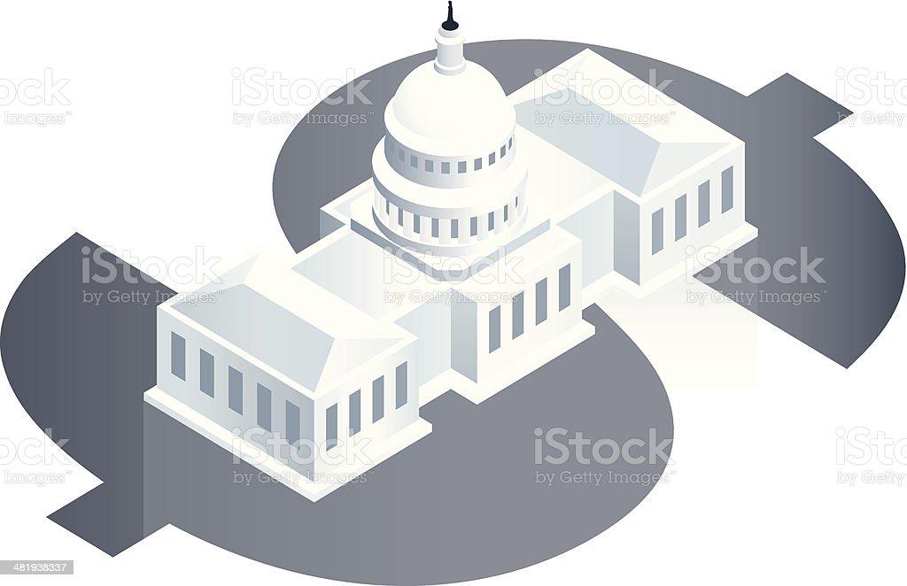 National Debt Illustration vector art illustration