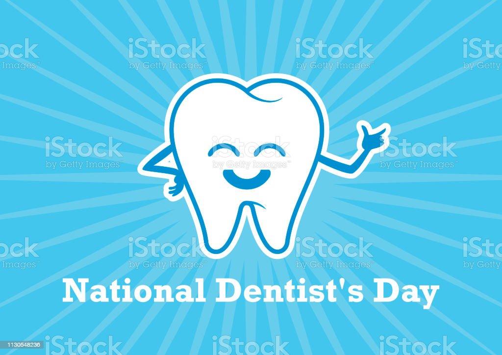 National Dentist's Day vector - Grafika wektorowa royalty-free (Białe tło)
