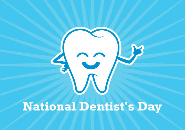 national dentist's day vector - happy holidays stock illustrations