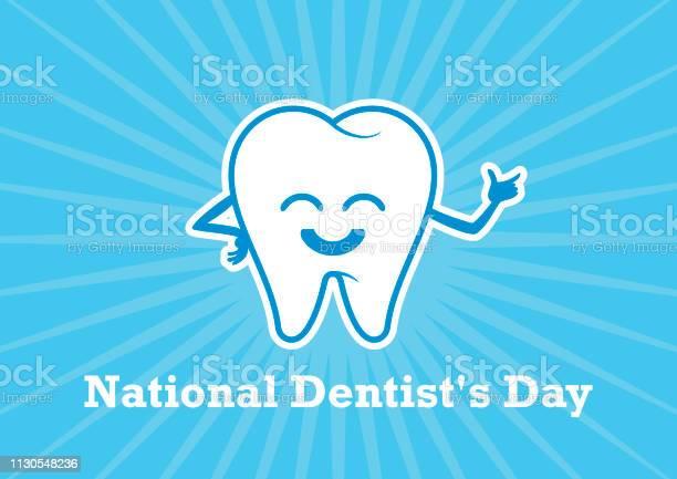 National Dentists Day Vector - Stockowe grafiki wektorowe i więcej obrazów Białe tło