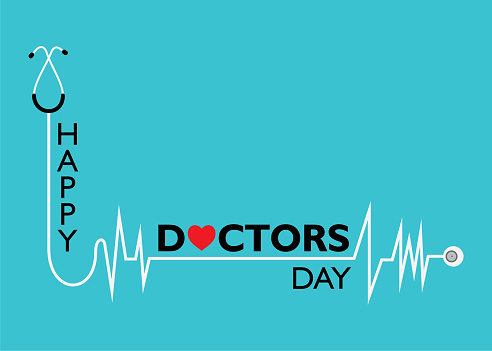 national doctors day concept poster