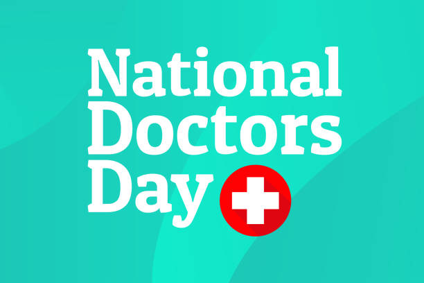 National Doctors Day concept. Template for background, banner, card, poster with text inscription. Vector EPS10 illustration. National Doctors Day concept. Template for background, banner, card, poster with text inscription. Vector EPS10 illustration day stock illustrations