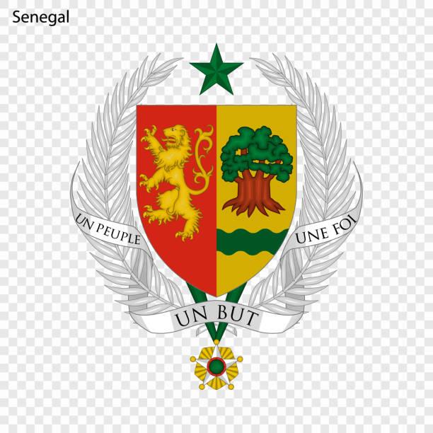national emblem or symbol - senegal stock illustrations
