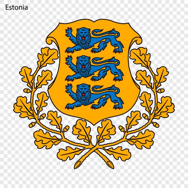 stockillustraties, clipart, cartoons en iconen met nationaal embleem of symbool - estland