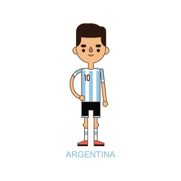 National Euro Cup argentina soccer football player vector illustration - ilustración de arte vectorial