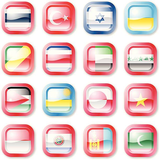 Botones de bandera nacional - ilustración de arte vectorial