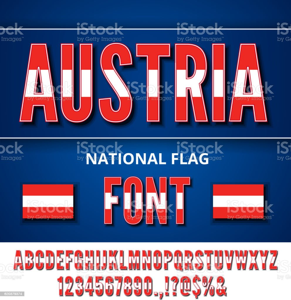 National Flag Font national flag font - stockowe grafiki wektorowe i więcej obrazów alfabet royalty-free