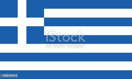 Detailed Illustration National Flag Greece